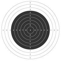 Мишень пистолетная 10 метров