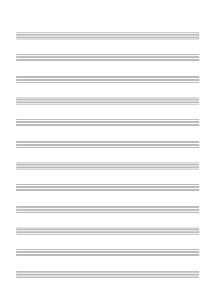 пустой нотный лист