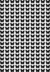 Бабочки трафарет минимальный